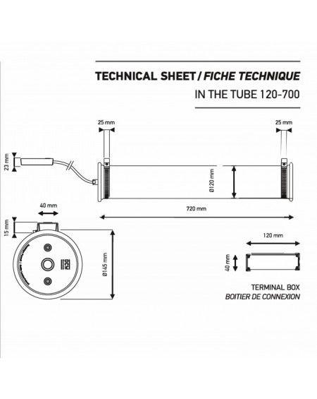 APPLIQUE IN THE TUBE ITT 120 - 700 ARGENT / L 72CM DCW EDITIONS