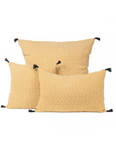 housse de coussin hindi fauve 40x60 harmony tr s. Black Bedroom Furniture Sets. Home Design Ideas