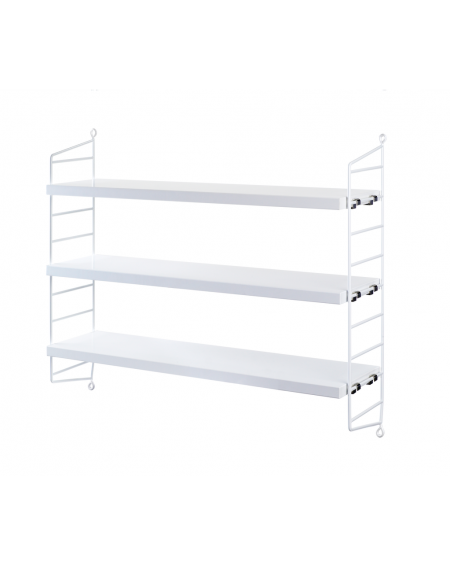 ETAGERE STRING POCKET WHITE/WHITE STRING FURNITURE