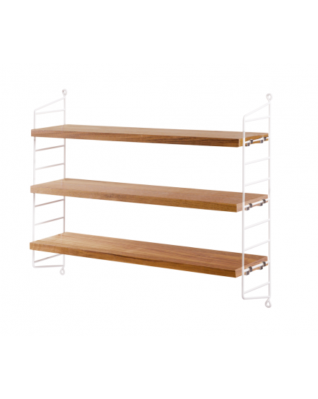 ETAGERE STRING POCKET OAK/WHITE STRING FURNITURE