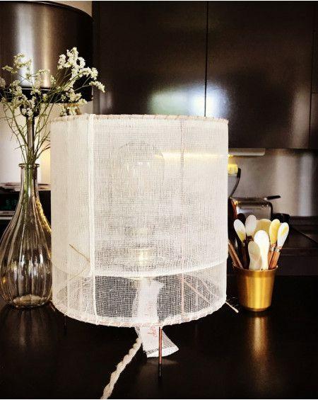LAMPE A POSER TARLATANE ECRUE CHERIE CHERIE