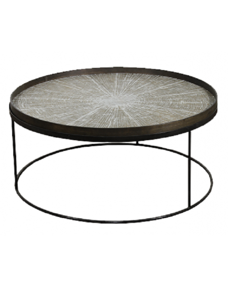 TABLE BASSE ROUND TRAY TABLE LOW XL Ø93XH38 NOTRE MONDE