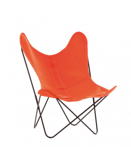 FAUTEUIL AA THERMOLAQUE NOIR COTON ORANGE AIRBORNE