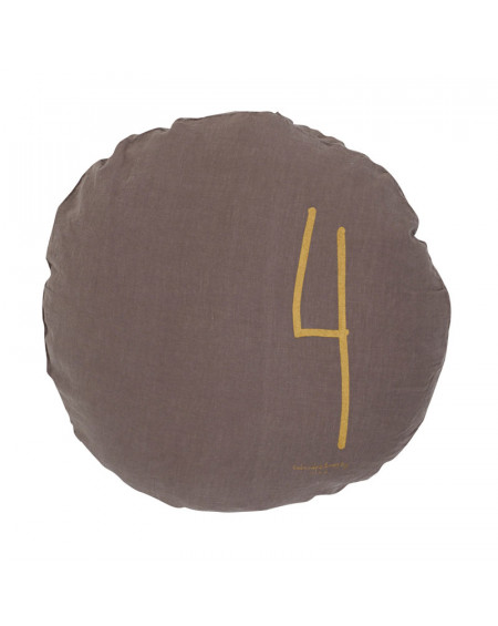 COUSSIN ROND Ø65 TAUPE BED AND PHILOSOPHY