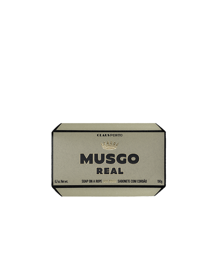 SAVON MUSGO REAL OAK MOSS 190G SUR CORDE CLAUS PORTO