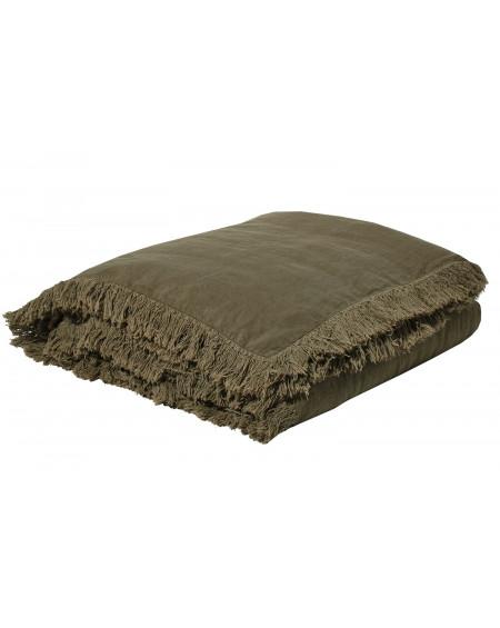 EDREDON EN LIN SNOB 90X190 KAKI BED AND PHILOSOPHY