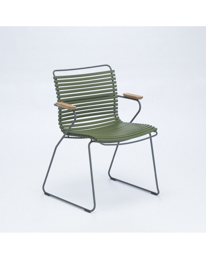 FAUTEUIL CLICK DINING CHAIR AVEC ACCOUDOIRS VERT OLIVE HOUE