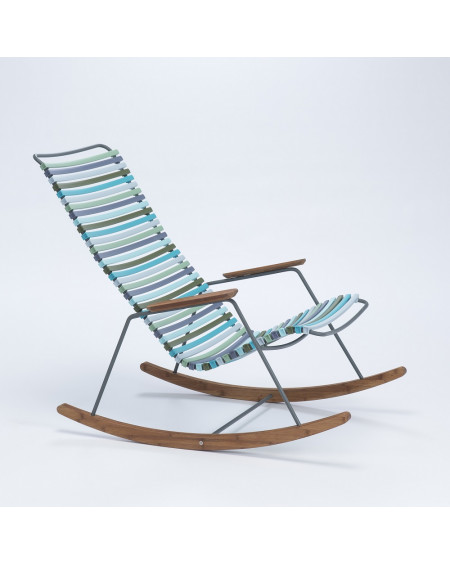 ROCKING CHAIR CLICK GRIS MULTICOLORE HOUE