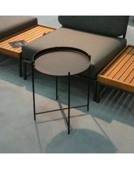 TABLE BASSE D'APPOINT EDGE NOIR Ø62 HOUE