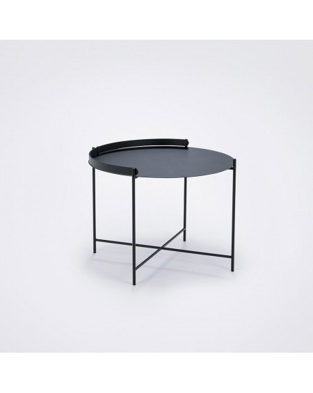 TABLE BASSE D'APPOINT EDGE NOIR Ø62 HOUE