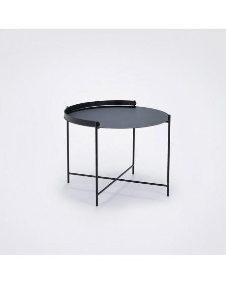 TABLE BASSE D'APPOINT EDGE NOIR Ø62 - HOUE