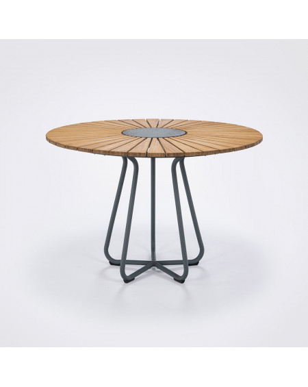 TABLE CIRCLE OUTDOOR BAMBOU GRIS Ø110 HOUE