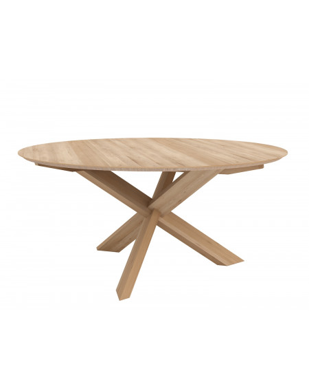 TABLE CIRCLE Ø136 EN CHENE VERNI ETHNICRAFT