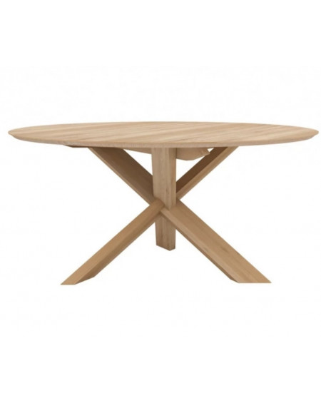 TABLE CIRCLE Ø163 EN CHENE VERNI ETHNICRAFT