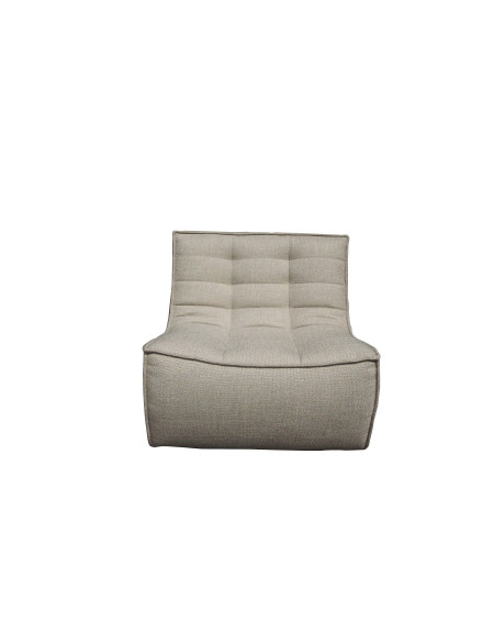 FAUTEUIL N701 BEIGE 1 PLACE 80X91XH76 ETHNICRAFT