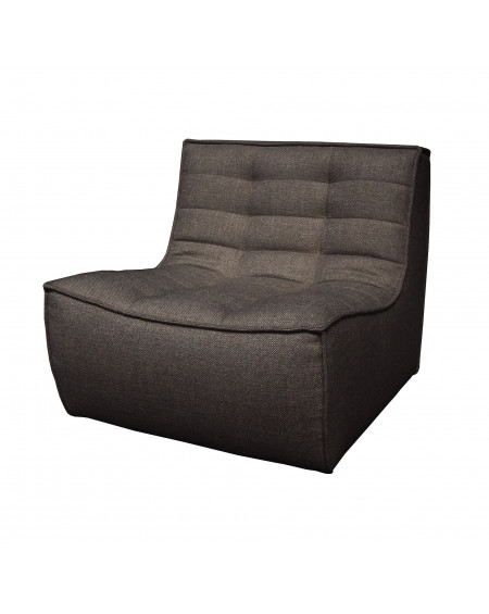 FAUTEUIL N701 GRIS FONCE 1 PLACE 80X91XH76 ETHNICRAFT
