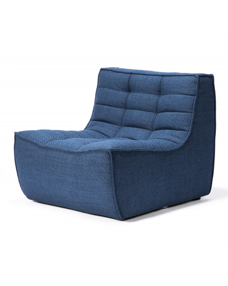 FAUTEUIL N701 BLEU 1 PLACE 80X91XH76 ETHNICRAFT