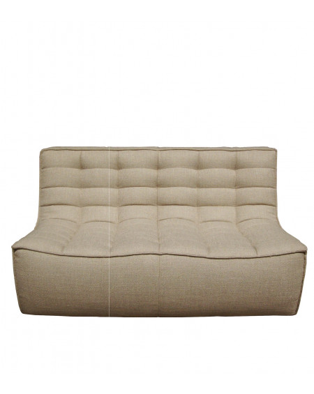CANAPE N701 BEIGE 2 PLACES 140X91XH76 ETHNICRAFT