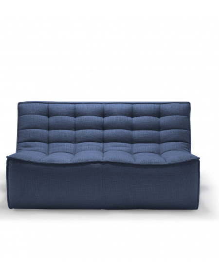 CANAPE N701 BLEU 2 PLACES 140X91XH76 ETHNICRAFT