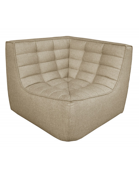 CANAPE N701 MODULE D'ANGLE BEIGE 91X91X76 ETHNICRAFT
