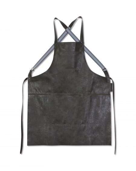 TABLIER BARBECUE EN CUIR VINTAGE GRIS DUTCHDELUXES