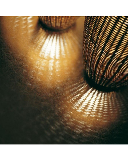 LAMPADAIRE BOLLA S EN MOELLE DE ROTIN H120 GERVASONI