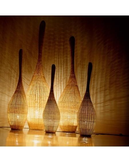 LAMPADAIRE BOLLA M EN MOELLE DE ROTIN H155 GERVASONI