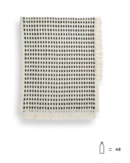 TAPIS WAY MAT OFF WHITE/BLUE 70X50 FERM LIVING