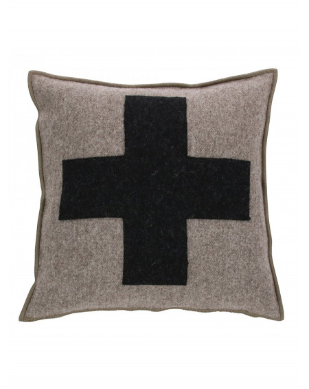 COUSSIN AURE CROIX TAUPE 40x40 - ARPIN