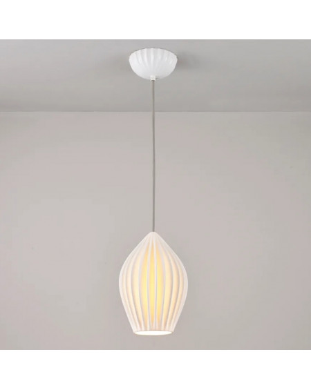 SUSPENSION PORCELAINE FIN LARGE PENDANT ORIGINAL BTC