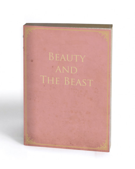 CARNET BEAUTY AND THE BEAST LIBRI MUTI 15X21 - SLOW DESIGN