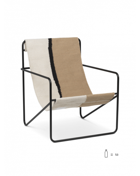 DESERT LOUNGE CHAIR CASHMERE BLACK/SOIL FERM LIVING