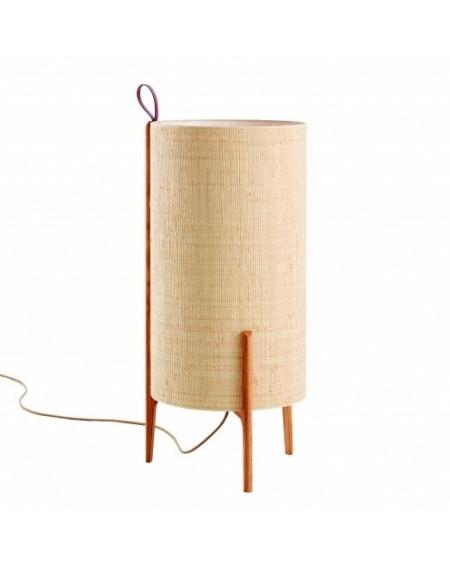LAMPE DE SOL GRETA CHENE ET FIBRE NATUREL Ø33XH58 CARPYEN