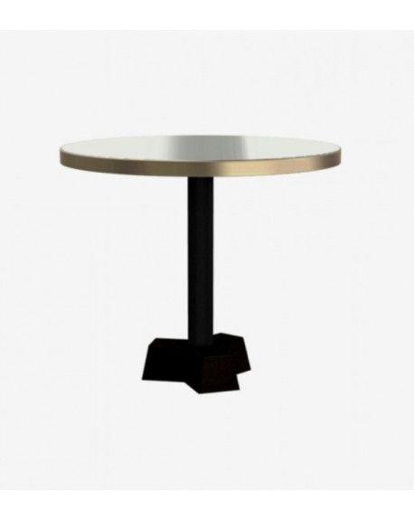 TABLE 44 BRASS LAITON PLATEAU Ø70CM X H60CM - GERVASONI