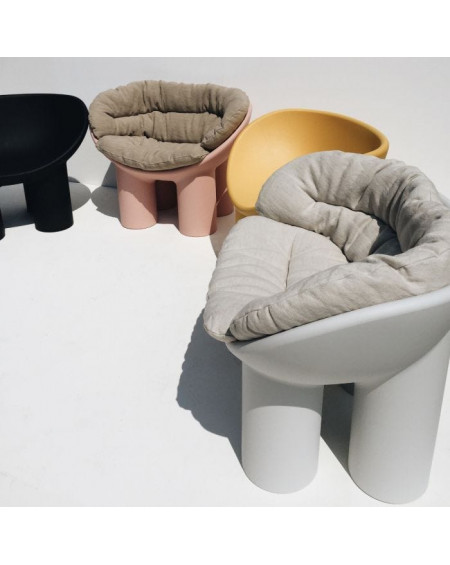 FAUTEUIL ROLY POLY CIMENT DRIADE