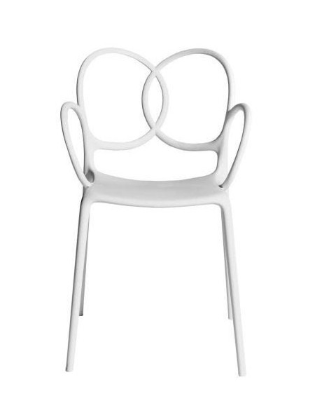 FAUTEUIL SISSI BLANC POLYPROPYLENE DRIADE
