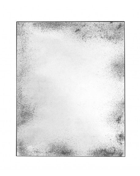 MIROIR CLEAR WALL MIRROR MEDIUM AGED METAL FRAME RECTANGULAIRE 122x3xH153 - ETHNICRAFT