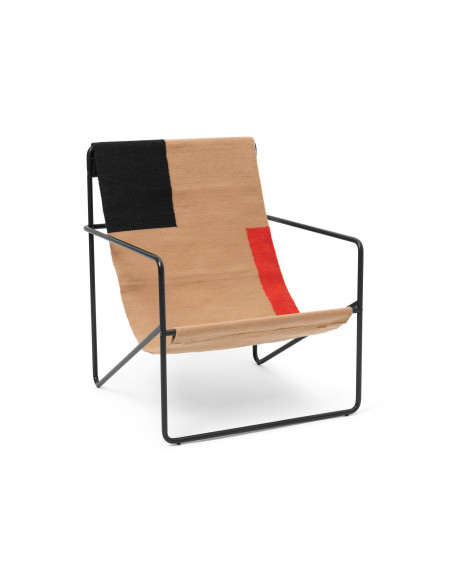 DESERT LOUNGE CHAIR BLACK/BLOCK FERM LIVING