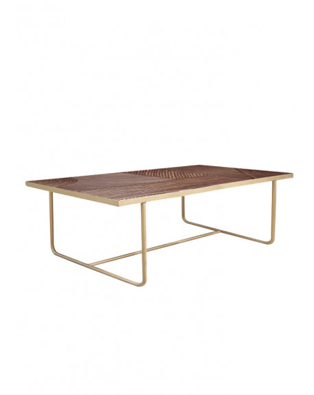 TABLE BASSE PALOMA DORE 130X70X35 - HONORE