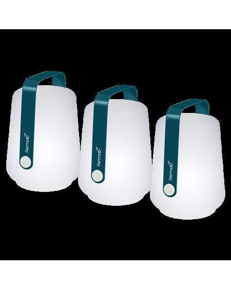 BALAD LOT DE 3 LAMPES BLEU ACAPULCO FERMOB