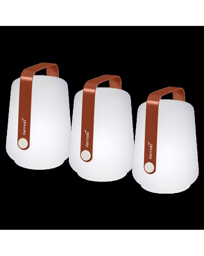 BALAD LOT DE 3 LAMPES OCRE ROUGE FERMOB