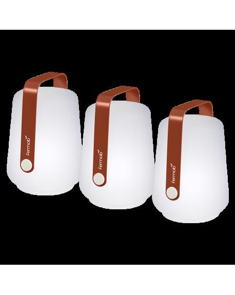 BALAD LOT DE 3 LAMPES OCRE ROUGE - FERMOB