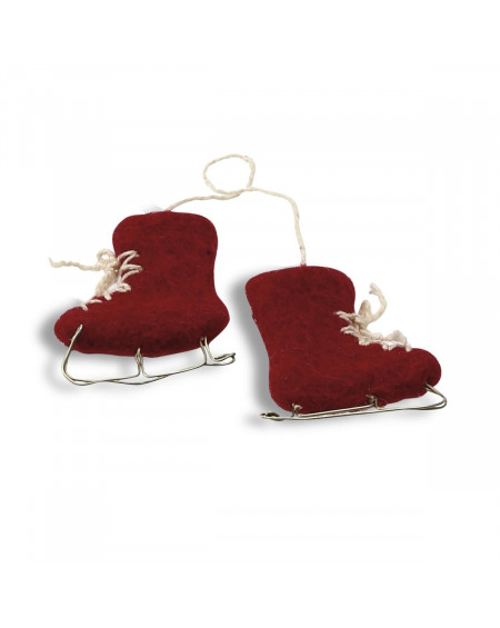 PATINS A GLACE ROUGES 5,5X4 EN GRY & SIF