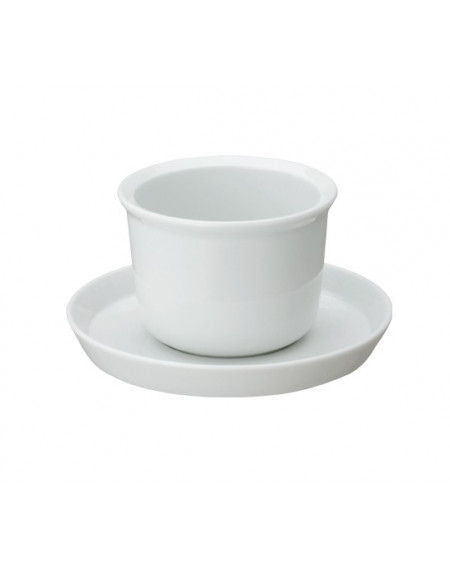 TASSE ET SOUS-TASSE LEAVES TO TEA CUP & SAUCER WHITE KINTO