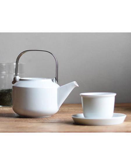 TASSE ET SOUS-TASSE LEAVES TO TEA CUP & SAUCER WHITE KINTO
